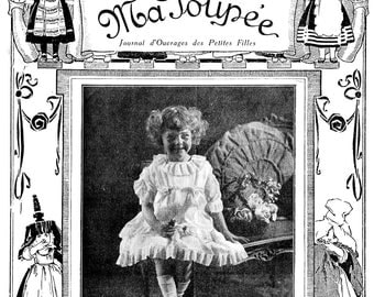 Vintage French Children's Magazine Ma Poupée Illustrated Doll Interest PDF -INSTANT DOWNLOAD-
