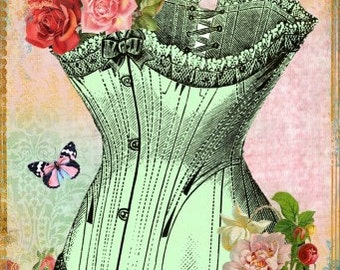 Pink Pearl Studio Corset Roses Reproduction Fabric Crazy Quilt Block Free Shipping World Wide (C4