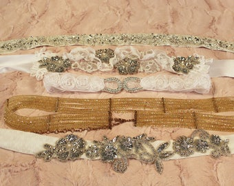 The Bridal Belt Assortment-Choice of Design-Ready to go-CRBoggs Designs