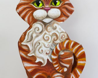 Ginger Pie Fancy Cat - 3D Painting