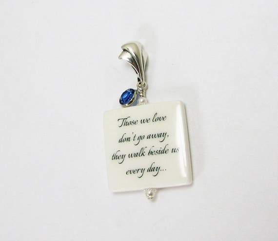 A Something Blue bridal bouquet memorial charm for her wedding day and betond - BC2fa