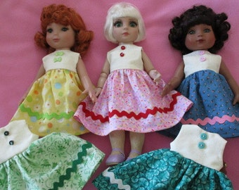 Sleeveless Dress made to fit 10 inch Tonner dolls, Georgia, Mimi, Patsy