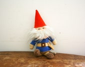 vintage 70s Knickerbocker David the Gnome Soft Plush Doll
