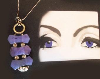 Necklace: Three tier Amethyst elegance