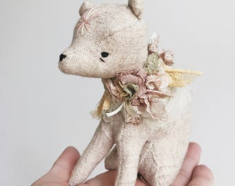 little bear in bloom | soft sculpture animal