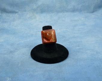 Encapsulated Skull Specimen Ring, Handmade Biology Jewelry