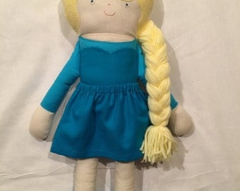 Elsa Frozen fabric doll, Stuffed toy, Girl doll, Disney