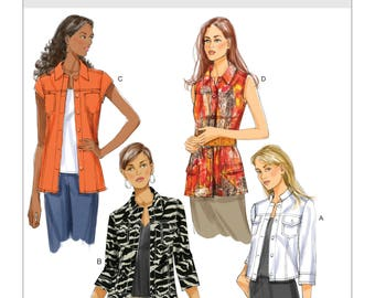 Misses' Long and Short Jacket Patten, Butterick B5616 Sewing Pattern, UNCUT  Long and short sleeve Jackets, Sizes: 6 - 12 or 14 - 22