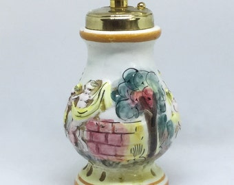 Acciaio Temperato Vintage pepper grinder mill painted Italy Cherubs