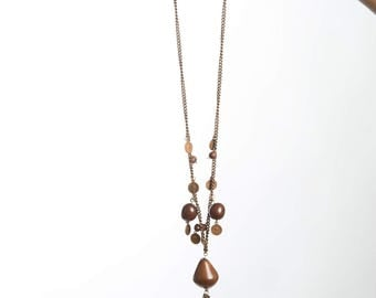 Brown tagua necklace gift for her
