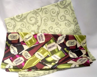 Pocket Squares, Pick Two, Choose Your Colors, All Cotton, Gift For Him, Ready To Ship