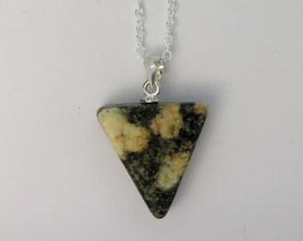 Preseli Bluestone & 925 silver pendant - Stonehenge stone