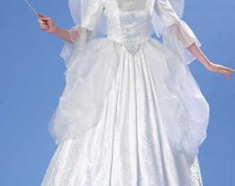 McCalls 7271 Womens Fairy Godmother Gown Pattern Angel Pattern Queen Cinderella Costume Uncut Pattern Womens Size 6 8 10 12 14