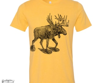 Men's MOOSE (in Snow Shoes) t shirt s m l xl xxl (+ Color Options)