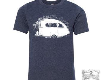 Kids Vintage CAMPER Premium vintage soft Tee T-Shirt Fine Jersey T-Shirt (+Colors) - FREE Shipping