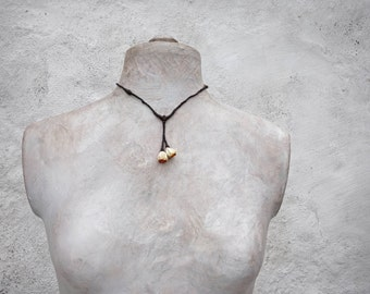 blossom twig sculptural necklace