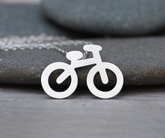 Bicycle Necklace In Sterling Silver, Happy Summer Holiday Necklace, Handmade In UK
