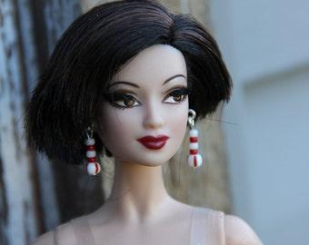 Peppermint Candy Mint Earrings & Bracelet for all Female Fashion Dolls Petite Slimline High 11 1/2-12 Inch 16 inch BJD