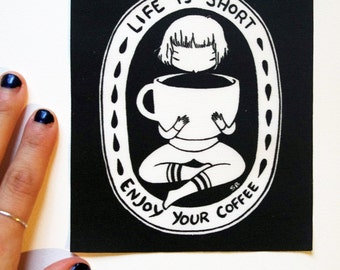 Patch - Coffee - Life is short