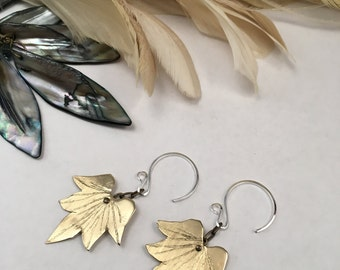 Lotus Blossom Earrings - Copper, Bronze or Sterling