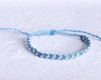 Silver Path Bracelet - Friendship Bracelets, Boho Hand crafted Bracelet, Adjustable Size, Handmade USA Pura Vida Style Christina Guenther