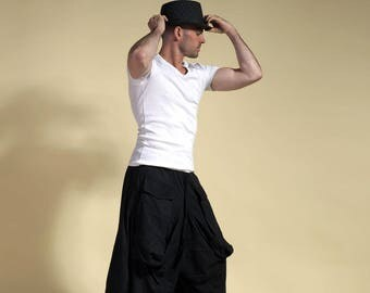 Black harem pants, pants samurai , ninja pants, london boy pants , casual pants