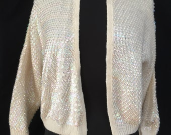 Hand knit Sequins Sweater