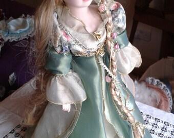 Vintage Porcelain Doll - Rapunzel Doll