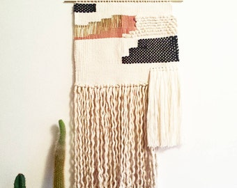 woven wall hanging / sunset weaving / hand woven wall hanging art tapestry