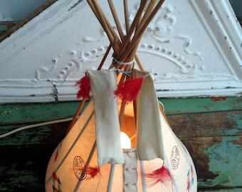 Vintage Teepee night stand lamp