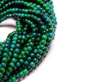 4MM Chrysocolla Beads , Full Strand ,  Chrysocolla Gemstone Beads , 15.5 Inch Strand