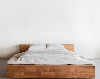 Hudson Bed Reclaimed Wood Beam Bed