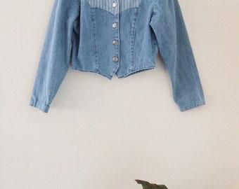 90's Cropped Jean Jacket