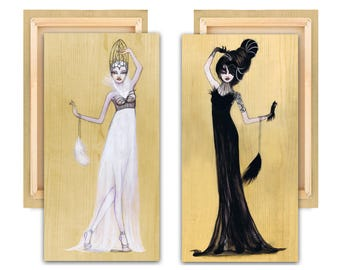"LIMITED EDITION: ""Odette and Odile"" Swan Lake Canvas Reproduction Set Edition 2 of 10"