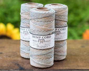 1mm Hemp Cord,  205 Feet, Sandalwood,  Macrame Cord,   Hemp Cord - T46