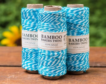 Bamboo Bakers Twine,  Blue Party Twine,  Bakery Twine,  Blue and White -T62