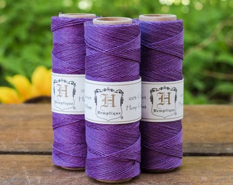 Purple Hemp Cord, 10lb, 0.5mm, 205 feet, Thin Hemp Cord,  Jewelry  Cord, Hemp Twine -TW11