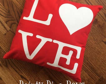 Pillow Cover, Valentine Gift, Love Pillow, Pillow Case ONLY, Throw Pillow, Decorative Pillow, Red Pillow, Home Decor, Valentine Decor, Gift