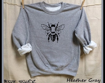 BEE. Save the Bees! Unisex 50/50 Sweatshirts .Women Mens Clothing. Hive. Beehive. Honey. Activist. Nature. Organic. Honeybee. Save the bees!