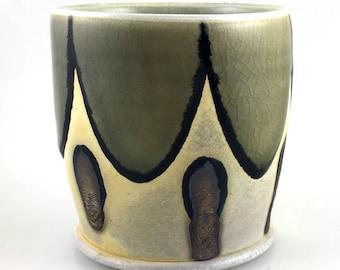 Soda Fired Porcelain Rocks Glass