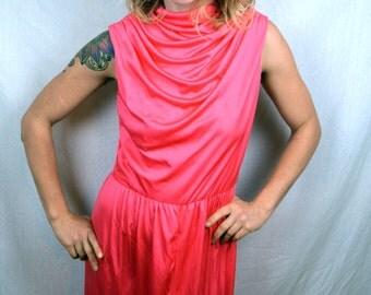 Goregous Vintage 60s Lilli Diamond Draped Full Length Formal Gown Dress
