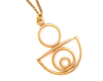 Bronze Half Circle Sacred Bowl Necklace