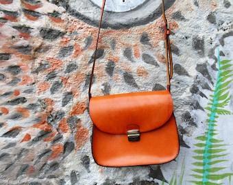 """Original leather shoulder bag """"Sunny day"""""""