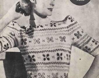 1940's vintage knitting pattern - Fair Isle 1