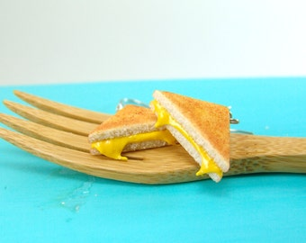 Sandwich Earrings // Grilled Cheese Earrings // Food Jewelry // MADE TO ORDER