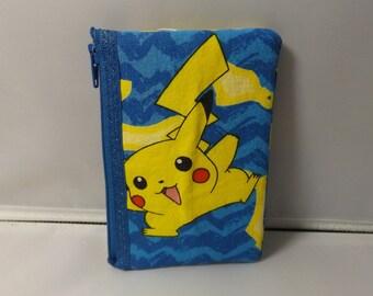Pokemon  Fabric Coin Purse- Handmade  Nintendo- OOAK