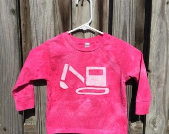 Pink Truck Shirt, Girls Truck Shirt, Kids Truck Shirt, Pink Digger Shirt, Pink Boys Shirt, Excavator Shirt, Construction Truck Shirt (3T)