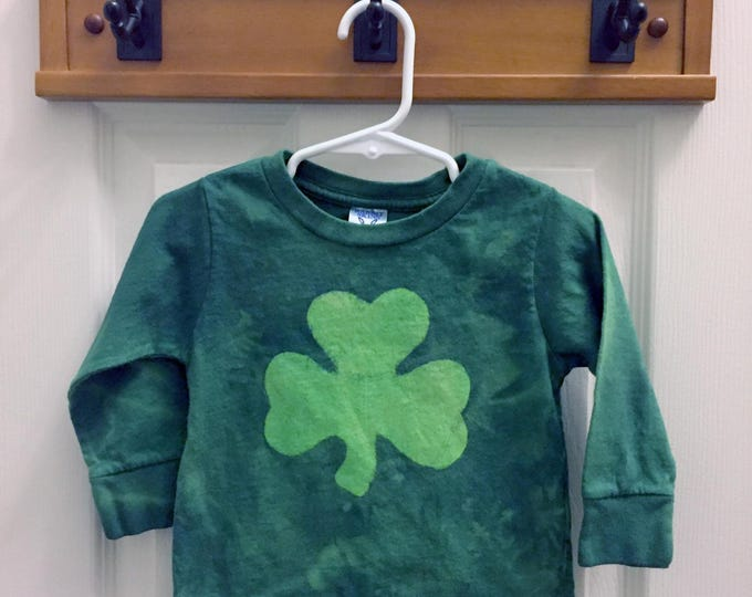 Green Shamrock Kids Shirt, Kids Shamrock Shirt, Boys Shamrock Shirt, Girls Shamrock Shirt, St. Patrick's Day Shirt (18 months)