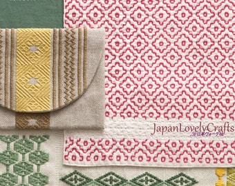 Chic Sashiko Patterns, Japanese Traditional Embroidery Book, Traditional Kogin Motifs, Easy Sashiko Tutorial, Sashiko Thread Stitch, B1829
