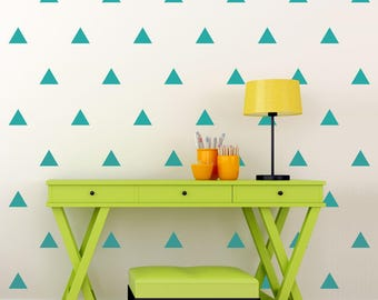 Triangle Wall Decal Set - Set of 100 - Geometric Pattern Wall Art - Triangle Stickers - Home Decor - Multiple Sizes Available